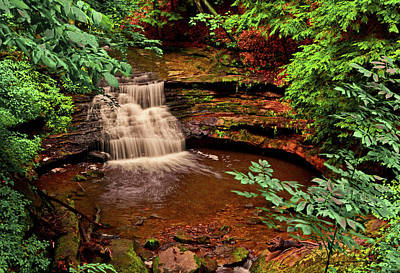 Photograph - Mill Creek Waterfalls 003 by George Bostian