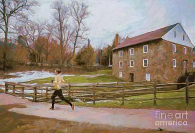 Ironman Painting - Mill House by Alejandro Maldonado