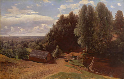 Painting - Mill In The Forest Clearing by Vladimir Donatovich Orlovsky