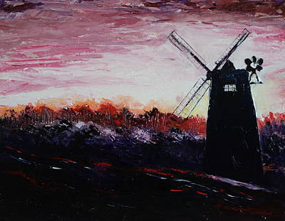 Mill In The Morning Mist Original by Valerie Curtiss