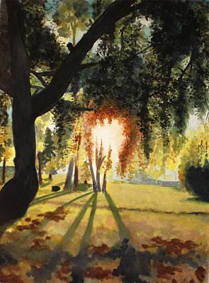 Mill Lake At Sunset Art Print by Vivian  Mosley