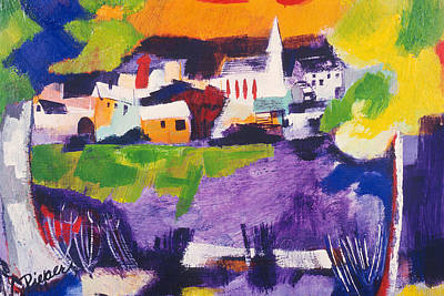 Mill Pond In Summer Art Print by Betty Pieper