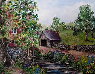 Painting - Mill Pond Road by Megan Walsh