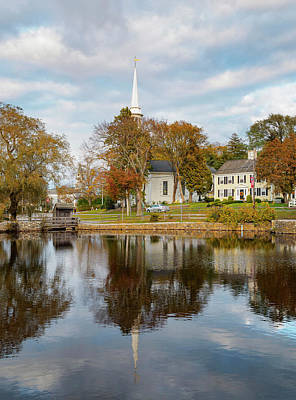 Photograph - Mill Pond View Of Sandwich 1 by Marianne Campolongo