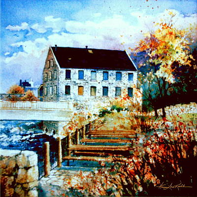 On Paper Painting - Mill Race Park by Hanne Lore Koehler