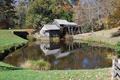 Art Print featuring the photograph Mill Reflections by Eric Liller