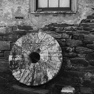 Mill Stone Art Print by Val Arie