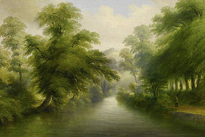 Mill Stream At Pynes Art Print by John Wallace Tucker