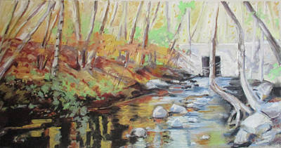 Pastel - Mill Stream, October by Grace Keown