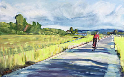 Mill Valley Bike Path Art Print by Colleen Proppe