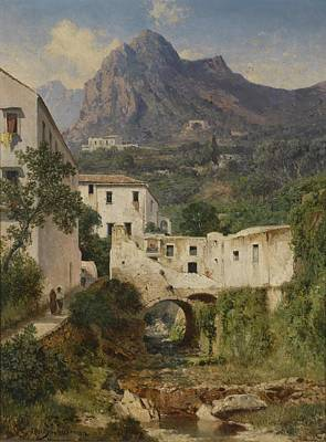 Mill Valley Painting - Mill Valley Near Amalfi by Celestial Images