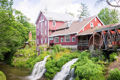 Photograph - Mill Water Falls Hdr by Ronald Hoehn