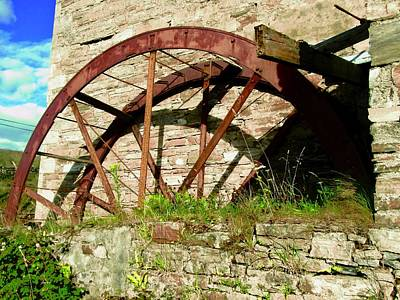 Photograph - Mill Wheel At Corcreggan's Mill by Stephanie Moore