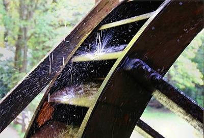 Photograph - Mill Wheel Turning by Kathryn Meyer