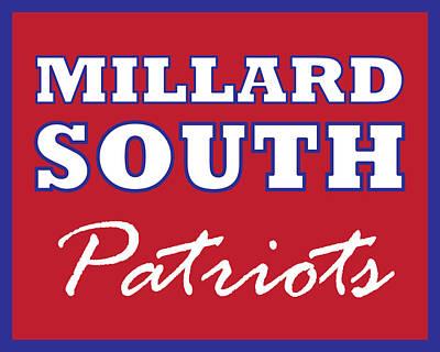 Digital Art - Millard South Patriots by Brian Moore
