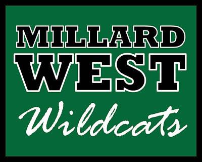 Digital Art - Millard West Wildcats by Brian Moore