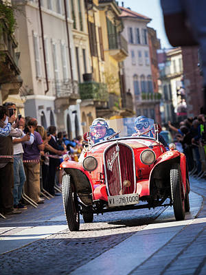 Photograph - Millemiglia Cars In Monza by Alfio Finocchiaro