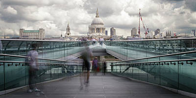 Photograph - Millenium Bridge by Steve Caldwell