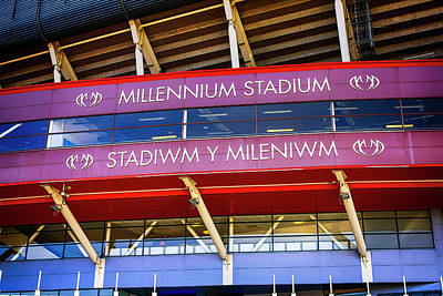 Photograph - Millenium Stadium In Cardiff  by Chris Smith