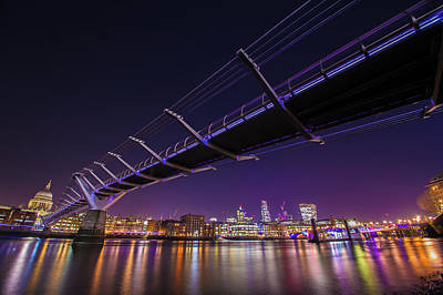 Photograph - Millennium Bridge At Night 2 by Mariusz Czajkowski