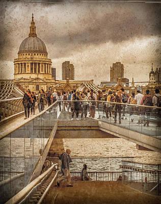 Photograph - London, England - Millennium Bridge II by Mark Forte