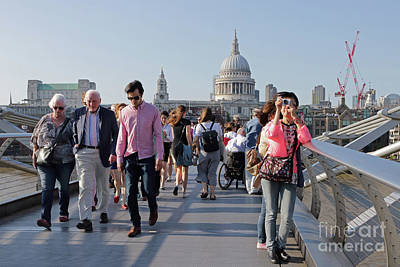 Photograph - Millennium Bridge In London. by Julia Gavin