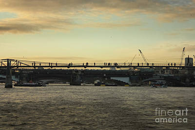 Photograph - Millennium Bridge London At Sunset by Terri Waters