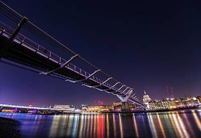 Photograph - Millennium Bridge London  by Mariusz Czajkowski