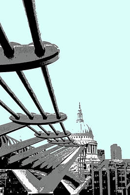 Digital Art - Millennium Bridge by Mary Castellan