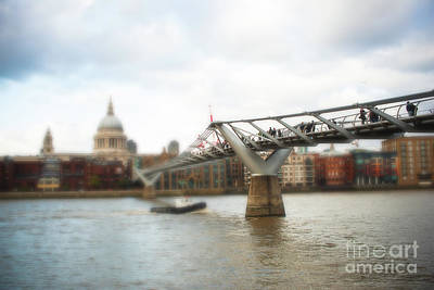 Millennium Bridge Over Thames Art Print