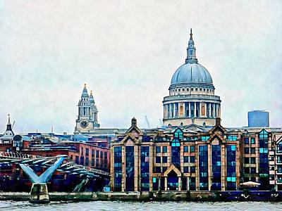 Photograph - Millennium Bridge To St Paul's Cathedral London by Dorothy Berry-Lound