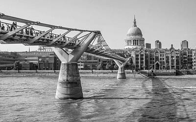 Photograph - Millennium Footbridge, London by Venetia Featherstone-Witty