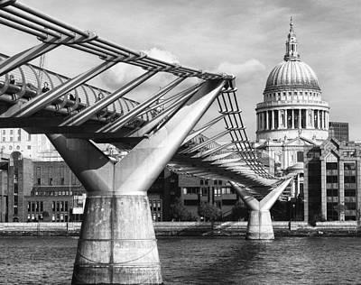 Photograph - Millennium Footbridge by Shirley Mitchell