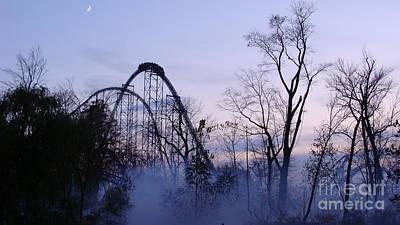 Photograph - Millennium Force Mist by Mike Bruckman