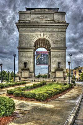 Welded Art Photograph - Millennium Gate Atlantic Station Midtown Atlanta by Reid Callaway