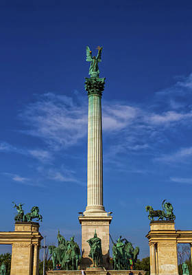 Photograph - Millennium Monument On The Heroes' Square Or Hosok Tere, Budapes by Elenarts - Elena Duvernay photo