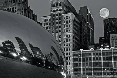 B Drake Photograph - Millennium Park Bean by Frozen in Time Fine Art Photography