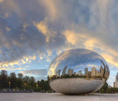 Millennium Park Photograph - Millennium Park In The Morning by Twenty Two North Photography