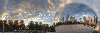 Cloud Gate Photograph - Millennium Park Reflection by Twenty Two North Photography