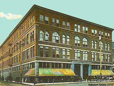 Miller Bros. Department Store In Chattanooga Tn In 1910 Art Print by Dwight Goss