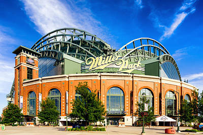Beer Royalty-Free and Rights-Managed Images - Miller Park by Keith Homan