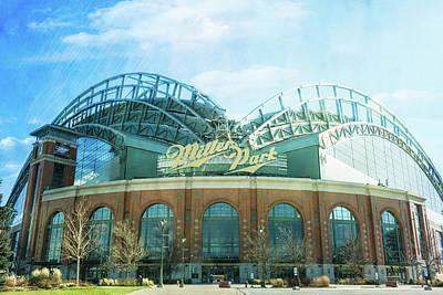 Photograph - Miller Park Stadium by Joel Witmeyer