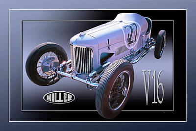 Photograph - Miller V16 by Ed Dooley