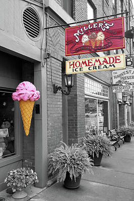 Photograph - Millers Homemade Ice Cream by Scott Kingery