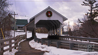 Photograph - Millers Run Bridge by Scenic Vermont Photography