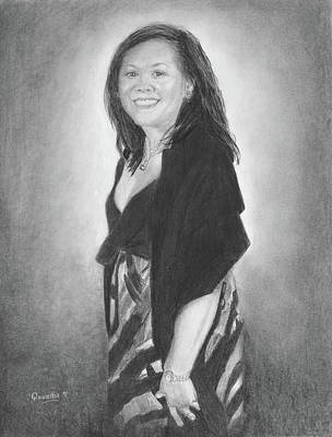 Drawing - Millicent by Quwatha Valentine