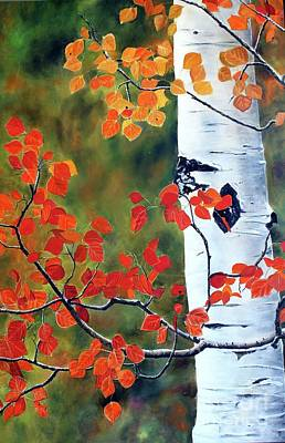 Painting - Million Aspen Leaves II by Anna-maria Dickinson