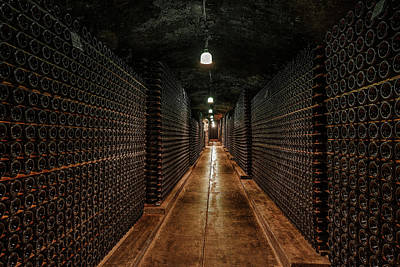 Million Bottle Wine Cellar Art Print by Daniel Hagerman