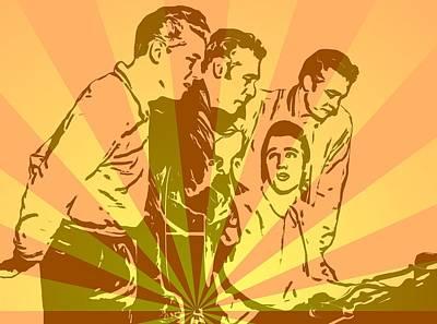 Music Mixed Media - Million Dollar Quartet Pop Art by Dan Sproul