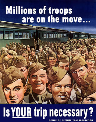 Political Propaganda Digital Art - Millions Of Troops Are On The Move by War Is Hell Store